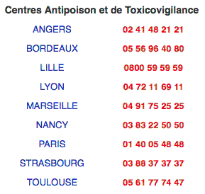 centre anti poison france